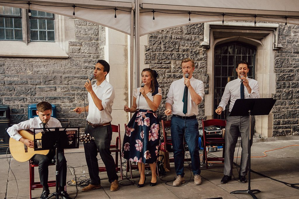 The Redeemers, Live Wedding Band at Hart House Courtyard 001